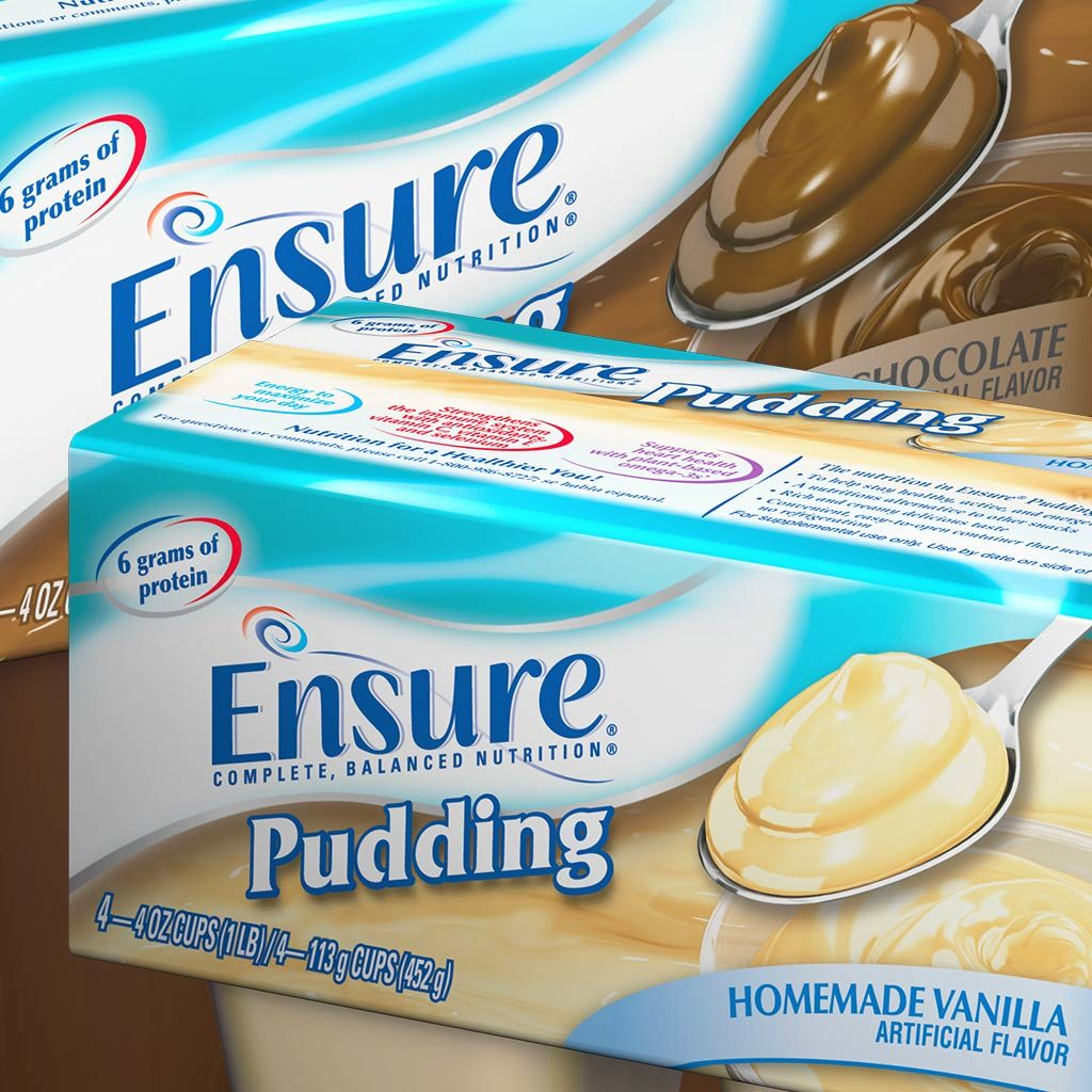 Ensure pudding package design
